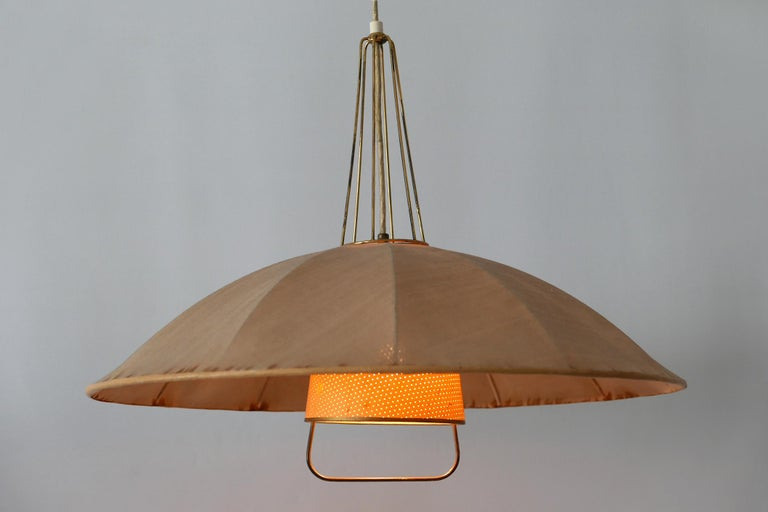 Mid-Century Modern Adjustable Counterweight Pendant Lamp or Hanging Light, 1950s For Sale 9