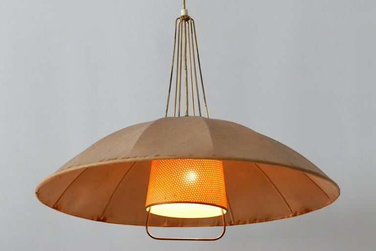 Mid-Century Modern Adjustable Counterweight Pendant Lamp or Hanging Light, 1950s For Sale 11