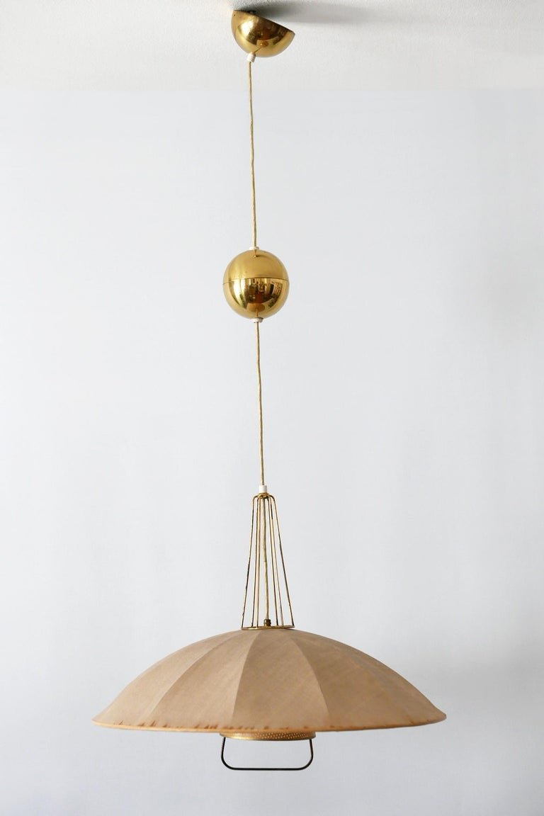 German Mid-Century Modern Adjustable Counterweight Pendant Lamp or Hanging Light, 1950s For Sale