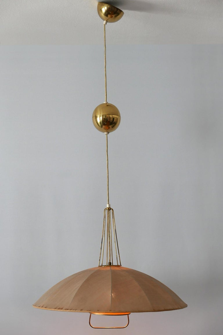 Mid-Century Modern Adjustable Counterweight Pendant Lamp or Hanging Light, 1950s In Good Condition For Sale In Munich, DE