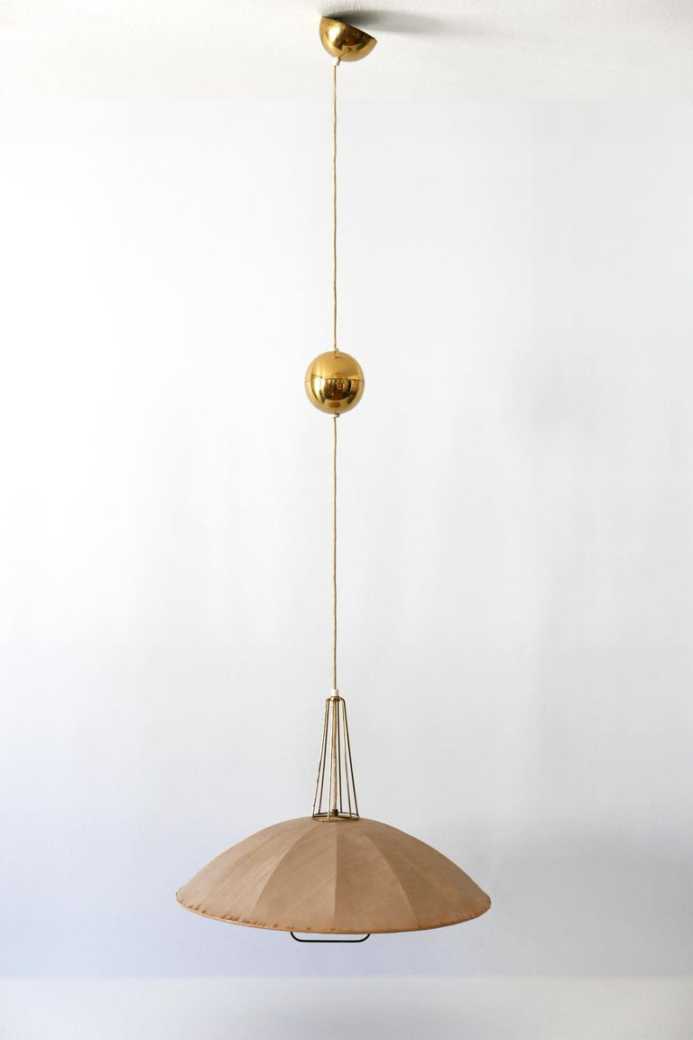Mid-20th Century Mid-Century Modern Adjustable Counterweight Pendant Lamp or Hanging Light, 1950s For Sale