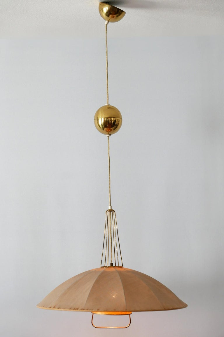 Mid-Century Modern Adjustable Counterweight Pendant Lamp or Hanging Light, 1950s For Sale 1