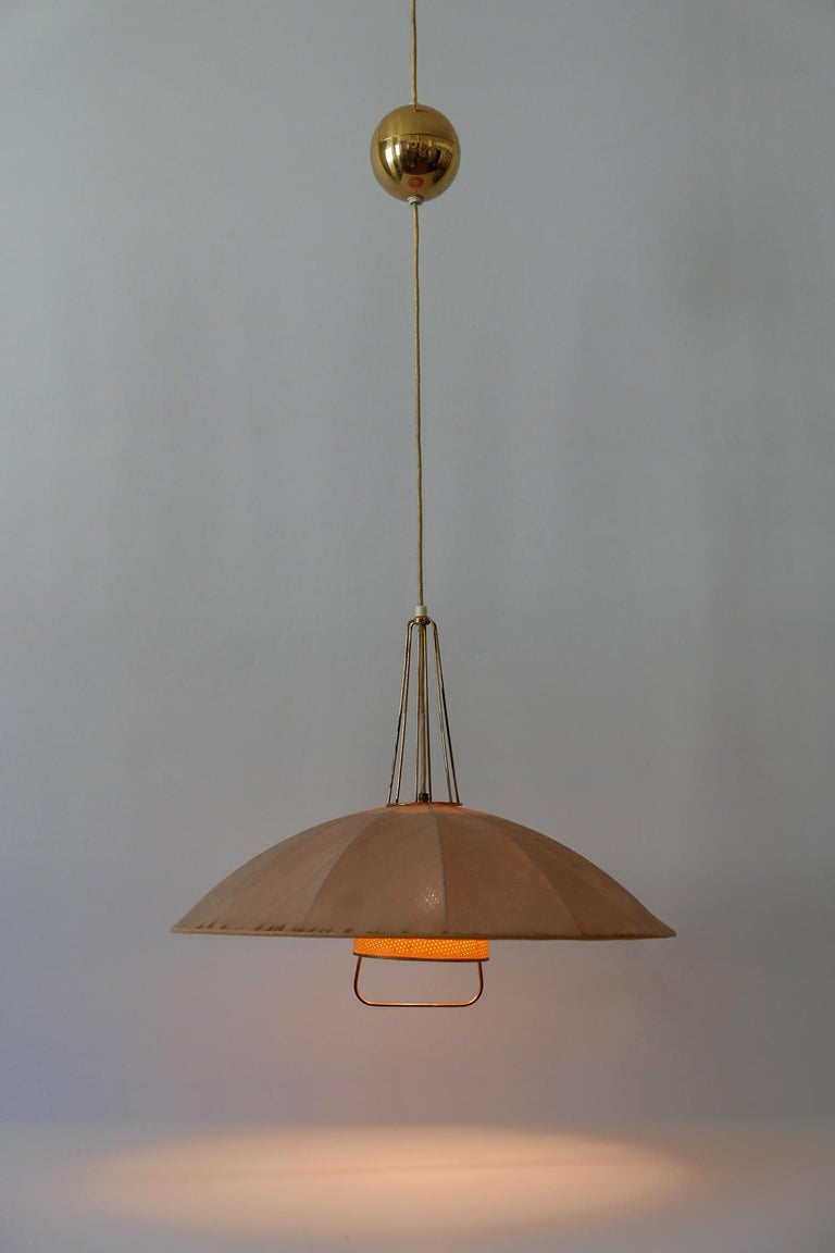 Mid-Century Modern Adjustable Counterweight Pendant Lamp or Hanging Light, 1950s For Sale 3