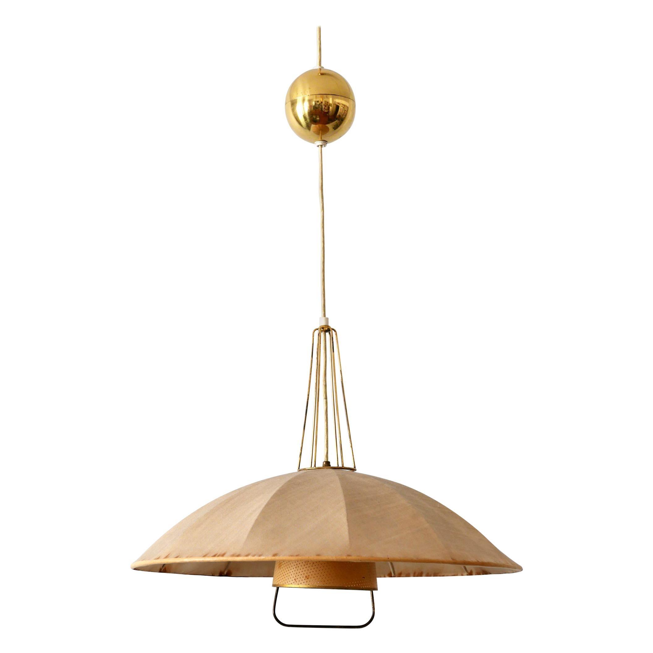 Mid-Century Modern Adjustable Counterweight Pendant Lamp or Hanging Light, 1950s