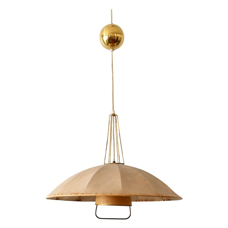 Mid-Century Modern Adjustable Counterweight Pendant Lamp or Hanging Light, 1950s For Sale