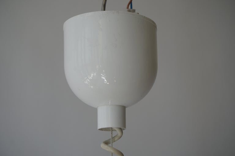 Mid-Century Modern Adjustable White Ceramic Pendant, Italy, 1950s For Sale 9