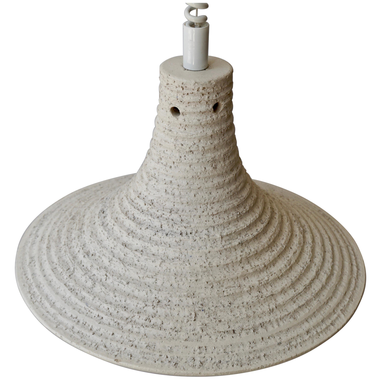 Mid-Century Modern Adjustable White Ceramic Pendant, Italy, 1950s
