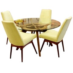 Mid-Century Modern Adrian Pearsall Compass Dinette Dining Table and Four Chairs