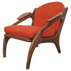 Mid-Century Modern Adrian Pearsall Craft Associates Walnut Lounge Chair