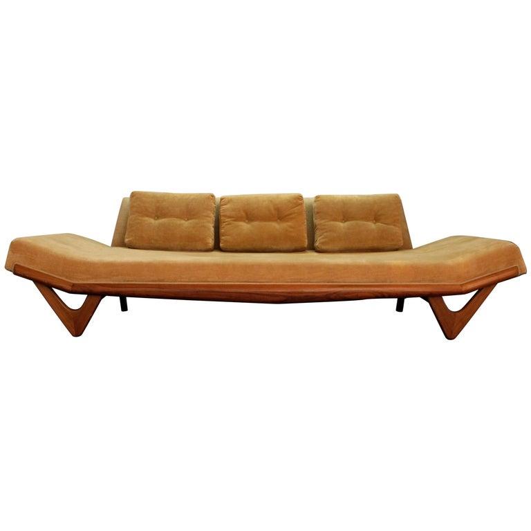 Outstanding Mid Century Modern Adrian Pearsall Gondola Sofa On Boomerang Legs 2303 Creativecarmelina Interior Chair Design Creativecarmelinacom