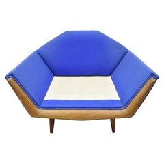 Mid-Century Modern Adrian Pearsall Oversized Sculptural Walnut Lounge Club Chair