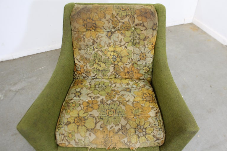 Upholstery Mid-Century Modern Adrian Pearsall Sculpted Leg Lounge Chair For Sale
