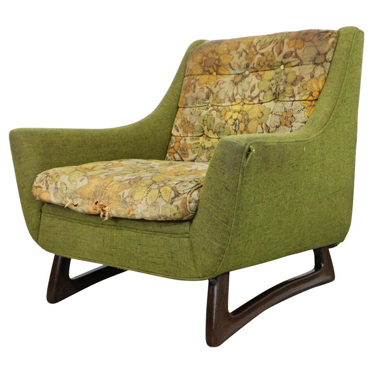 Mid-Century Modern Adrian Pearsall Sculpted Leg Lounge Chair For Sale
