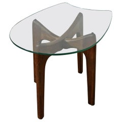 Mid-Century Modern Adrian Pearsall 'Stingray' Glass Top End/Side Table