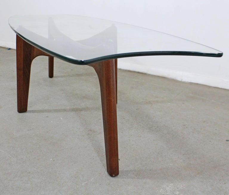 Mid-Century Modern Adrian Pearsall Stingray Walnut and Glass Coffee Table For Sale 5