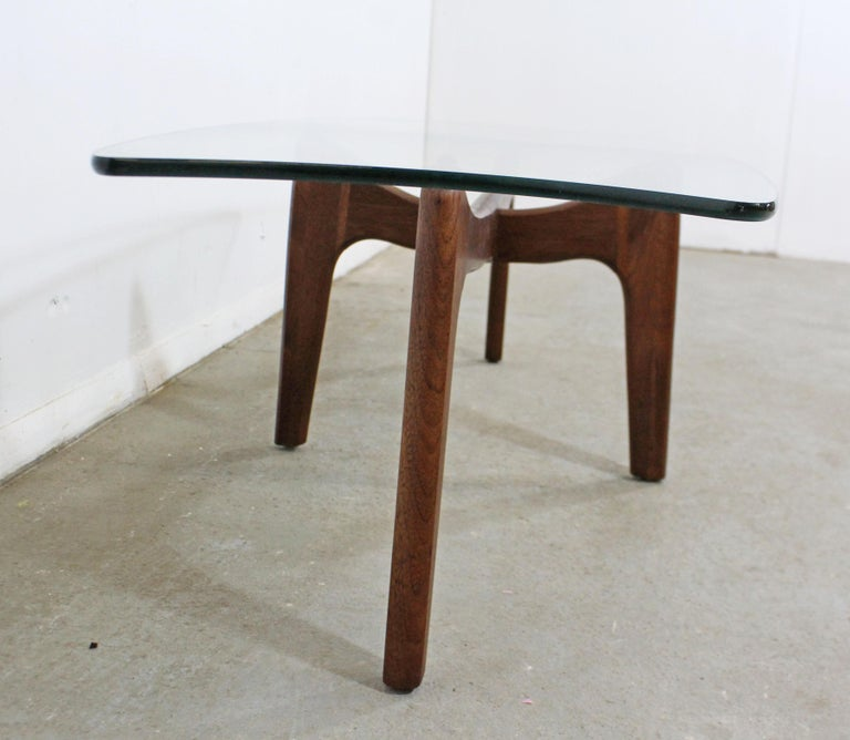Mid-Century Modern Adrian Pearsall Stingray Walnut and Glass Coffee Table For Sale 1
