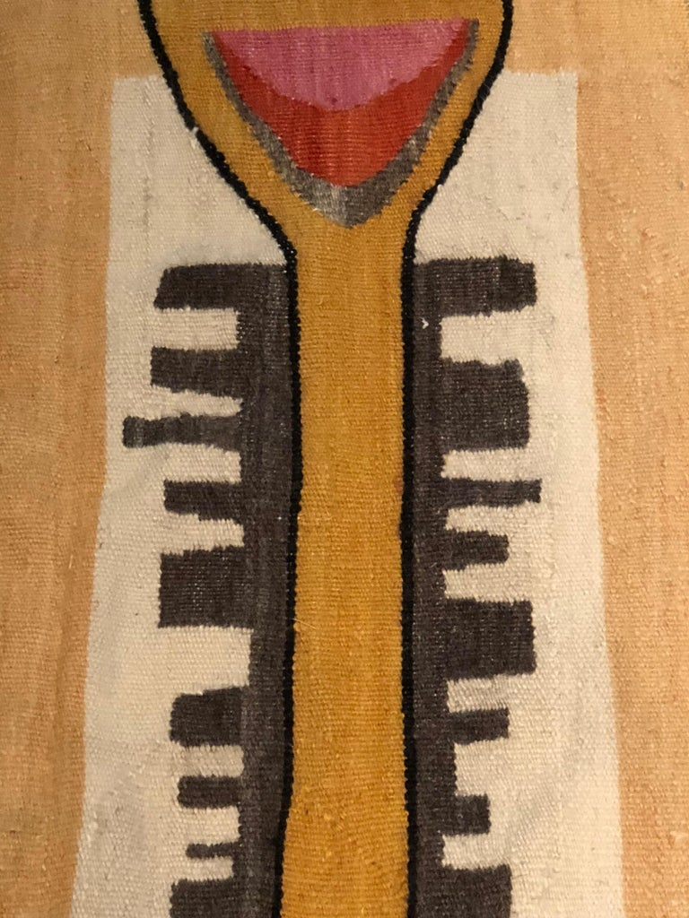 Hand-Woven Mid-Century Modern African Tapestry For Sale