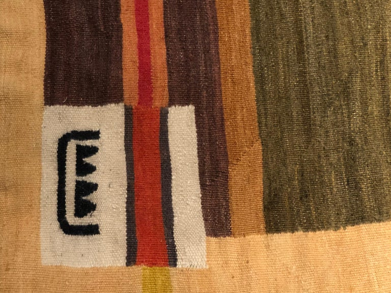 Mid-Century Modern African Tapestry In Good Condition For Sale In New York, NY
