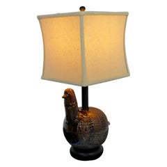 Mid-Century Modern Aldo Londi Bitossi Ceramic Partridge Table Lamps, Italy 1960s