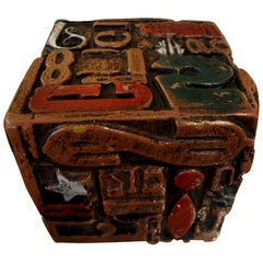 Mid-Century Modern Alpha Cube Sculpture by Sheldon Rose