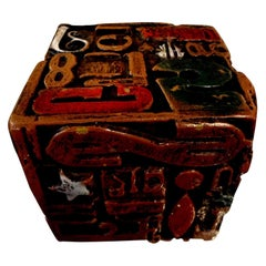 Mid-Century Modern Alpha Cube Sculpture by Sheldon Rose