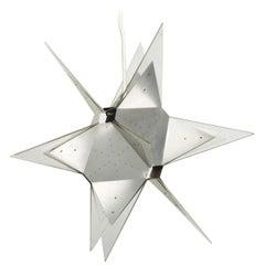 Mid-Century Modern Aluminium and Plexiglass Moravian Star Pendant Lamp, 1960s