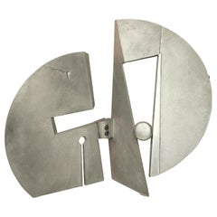 Mid-Century Modern Aluminium Sculpture by Nerone & Patuzzi, Marked, circa 1970