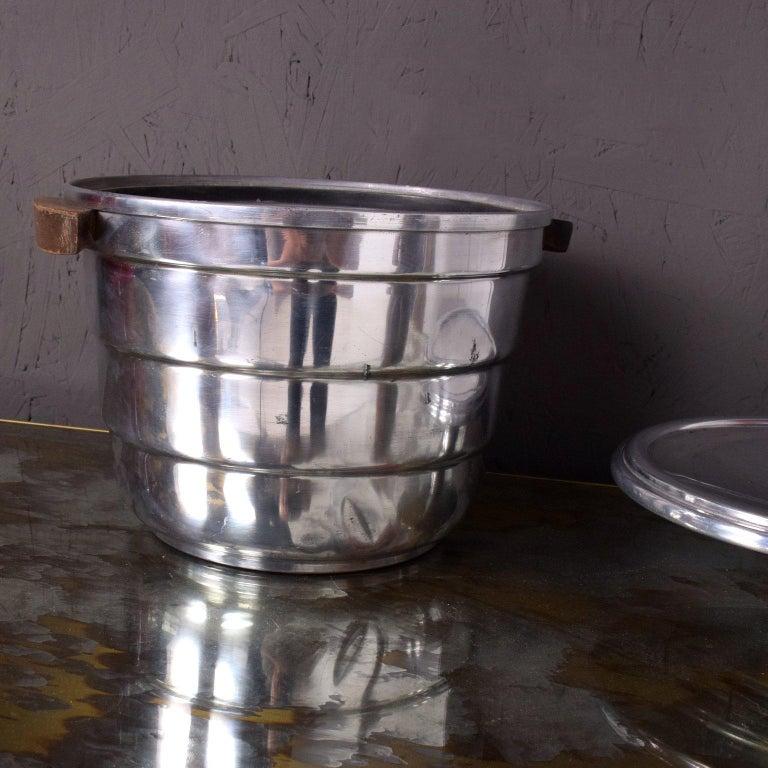 Polished Mid-Century Modern Aluminum Ice Bucket by Borkville