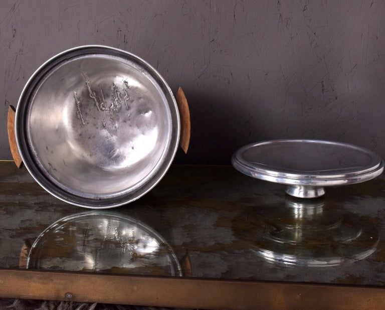 Mid-Century Modern Aluminum Ice Bucket by Borkville In Good Condition In National City, CA