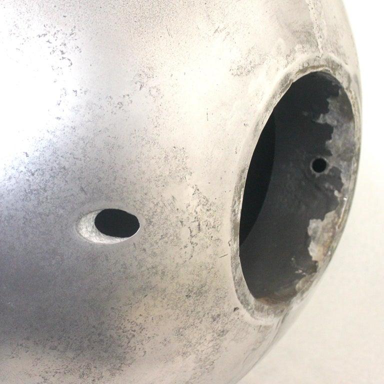 Mid-Century Modern Aluminum Landscape Garden Orb Sphere Ball Sculpture For Sale 3