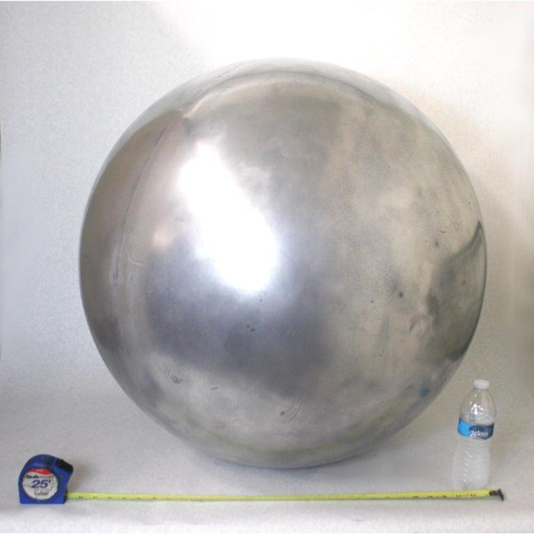 Mid-Century Modern Aluminum Landscape Garden Orb Sphere Ball Sculpture For Sale 4
