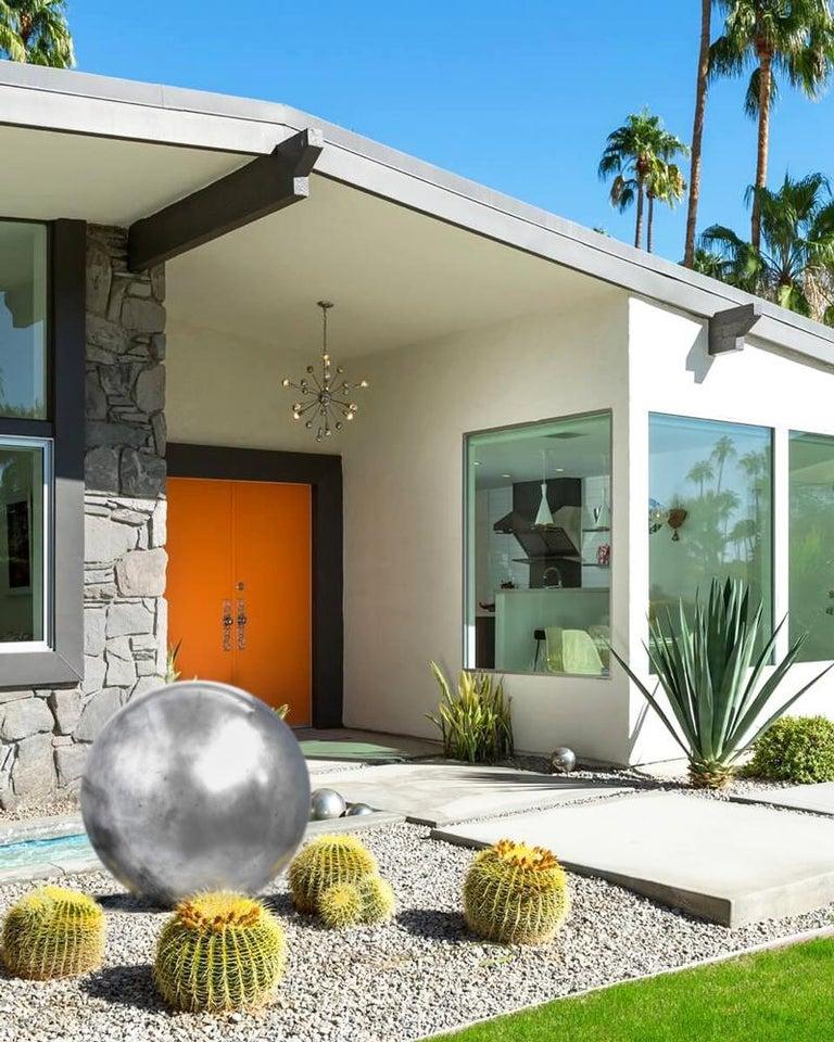 Mid-Century Modern Aluminum Landscape Garden Orb Sphere Ball Sculpture For Sale 5