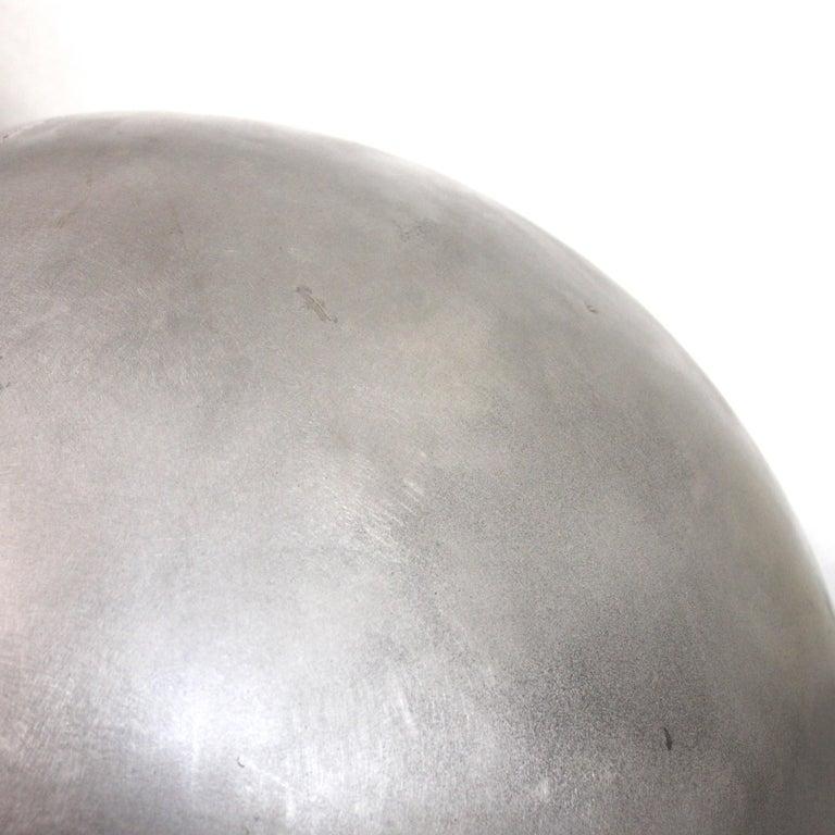 American Mid-Century Modern Aluminum Landscape Garden Orb Sphere Ball Sculpture For Sale