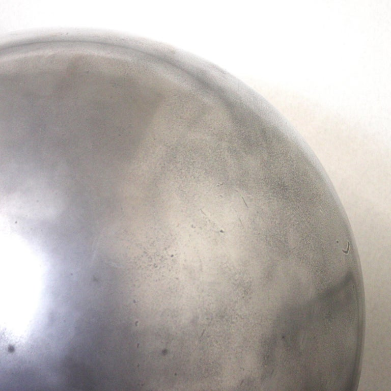 Late 20th Century Mid-Century Modern Aluminum Landscape Garden Orb Sphere Ball Sculpture For Sale