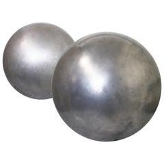 Mid-Century Modern Aluminum Landscape Garden Orb Sphere Ball Sculpture