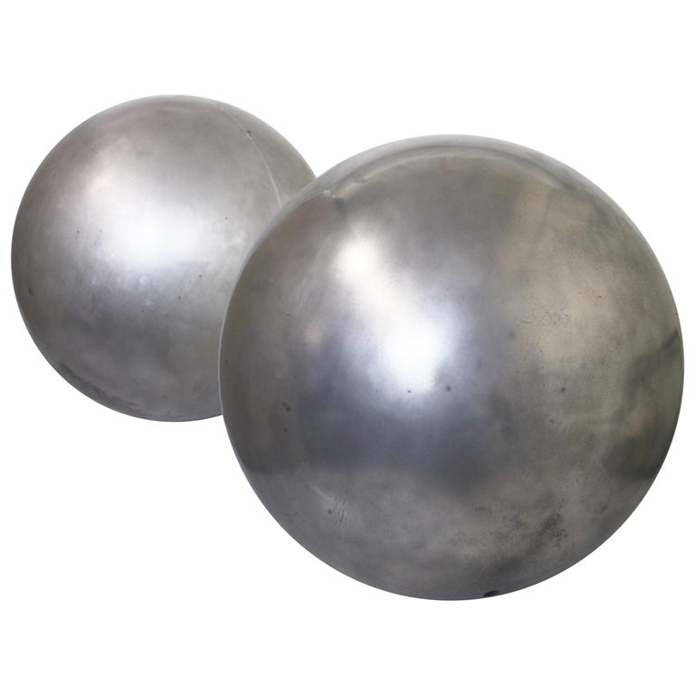 Mid-Century Modern Aluminum Landscape Garden Orb Sphere Ball Sculpture For Sale
