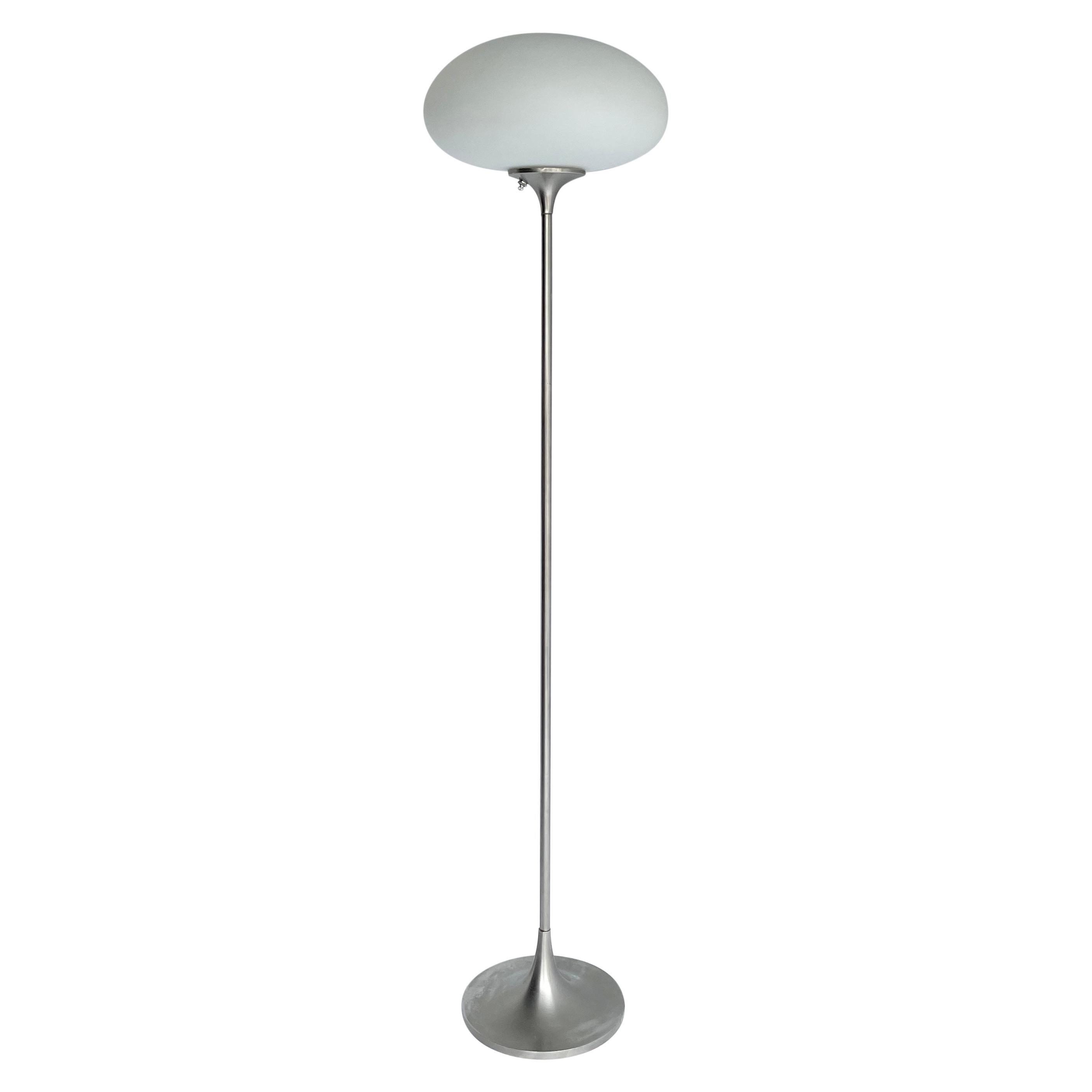 Mid-Century Modern Aluminum Laurel Mushroom Floor Lamp, 1973