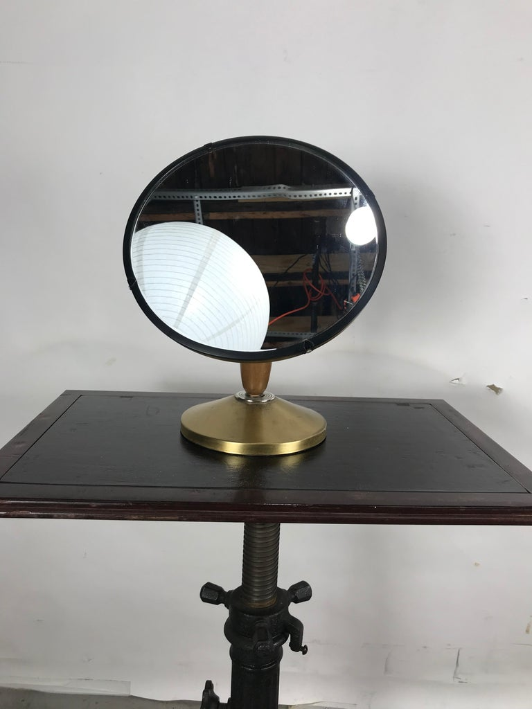 Mid-Century Modern Aluminum Stylized Jeweler's Counter Mirror For Sale 1