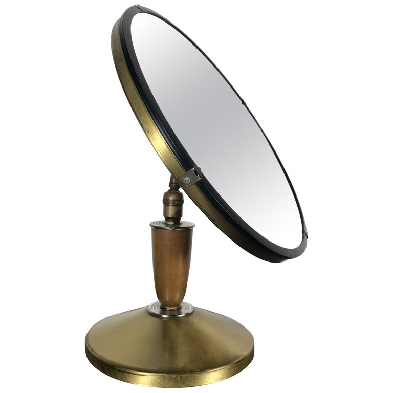 Mid-Century Modern Aluminum Stylized Jeweler's Counter Mirror For Sale