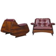 "Mid-Century Modern ""Ameba"" Armchairs by Brazilian Designer Jorge Zalszupin"