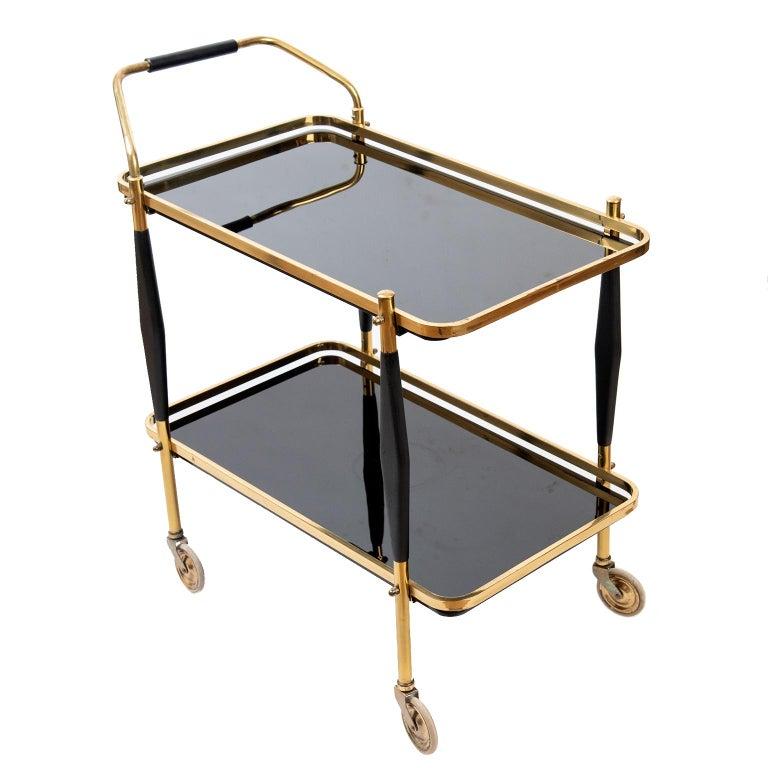 Brass Mid-Century Modern American Bar Cart