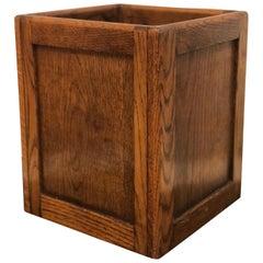 Mid-Century Modern American Oak Waste Paper Basket