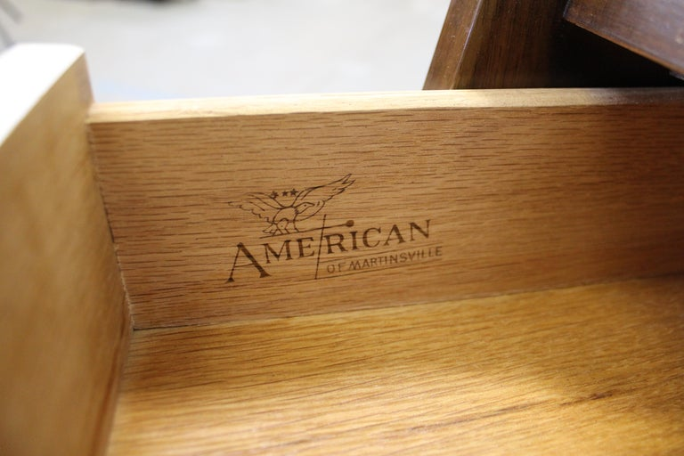 Mid-Century Modern American of Martinsville Merton Gershun 'Dania' Nightstand For Sale 1