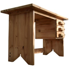 Mid-Century Modern Pine Desk