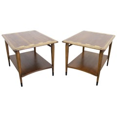Mid-Century Modern Andre Bus Lane 'Acclaim' 2-Tiered End Tables 900-05