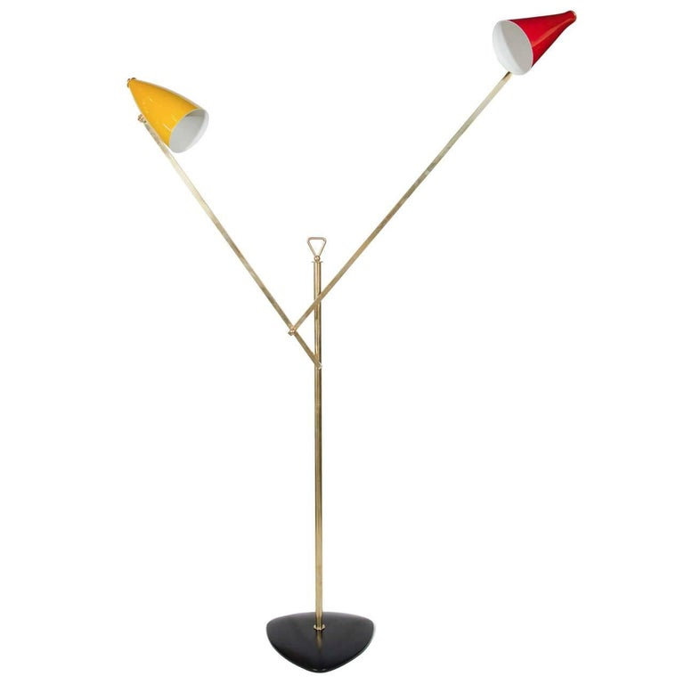 Mid-Century Modern Architectural Floor Lamp by Franco Buzzi for O-Luce, Italy For Sale
