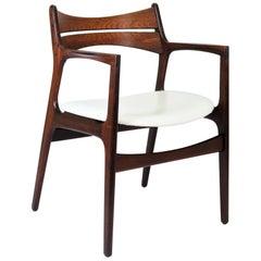 Mid-Century Modern Armchair in Rosewood by Danish Designer Erik Buck, 1960s