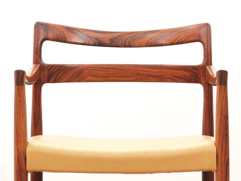 Mid-Century Modern Armchair in Rosewood by Kai Lyngfeldt For Sale 5