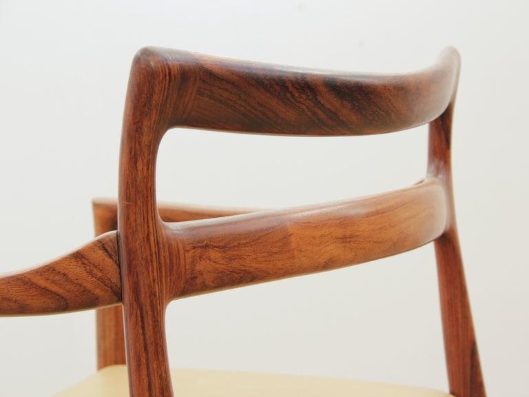 Mid-Century Modern Armchair in Rosewood by Kai Lyngfeldt For Sale 8