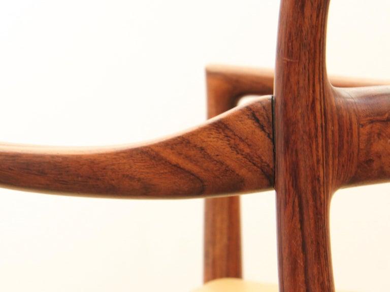 Mid-Century Modern Armchair in Rosewood by Kai Lyngfeldt For Sale 9